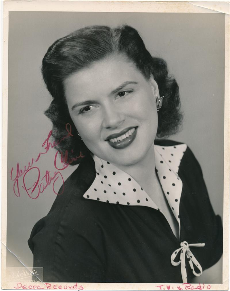 Todd Mueller Autographs: Patsy Cline- Terrific Vintage ...