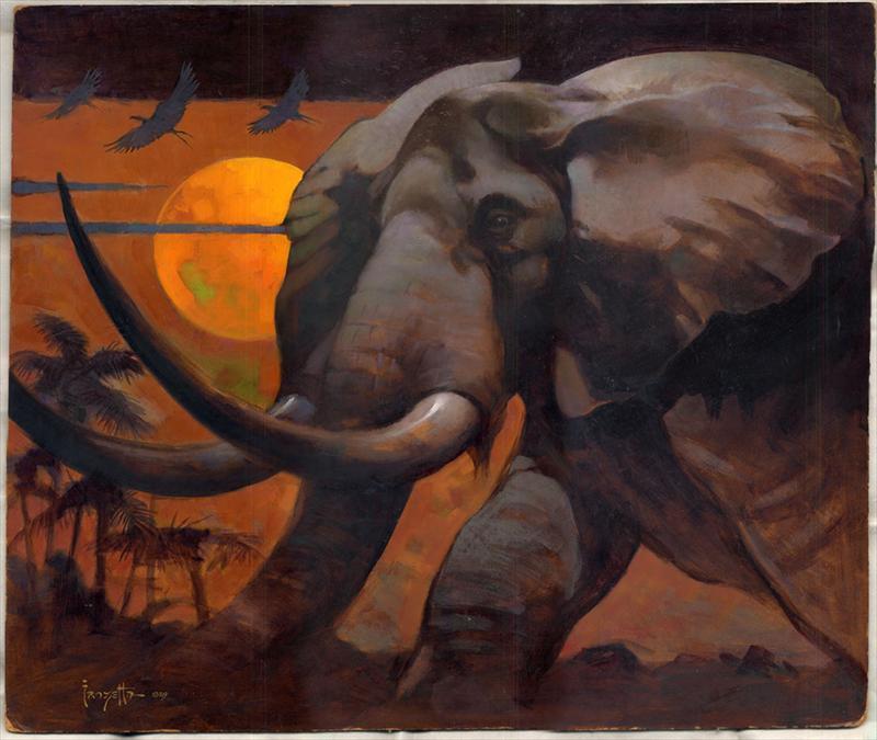 "Number 1 Cochran >> RussCochranauction.auctionanything.com: Frazetta - AÅ"" Original Painting 1972 ""The African ..."
