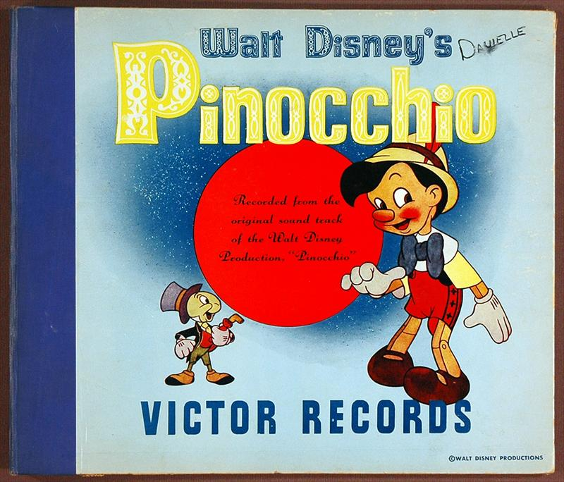 Auction Howardlowery Com 2 Disney Record Album Books Pinocchio By
