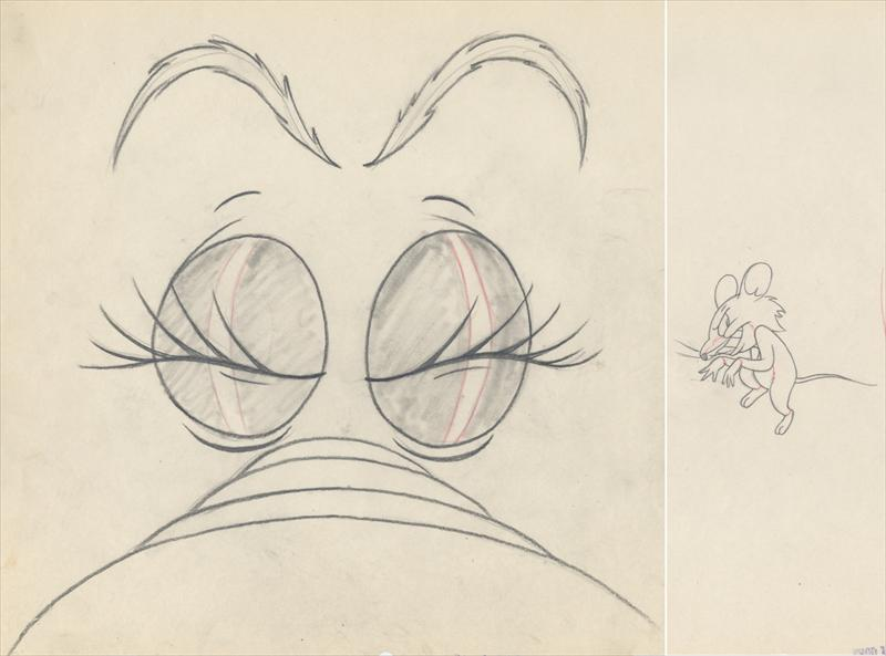 Auction Howardlowery Com 2 M G M Tex Avery Slap Happy Lion Matching Animation Drawings Lion Mouse In Same Scene 1947