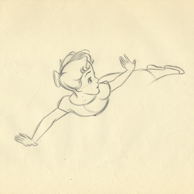 Auctionhowardlowery Disney PETER PAN Animator Extreme Drawing