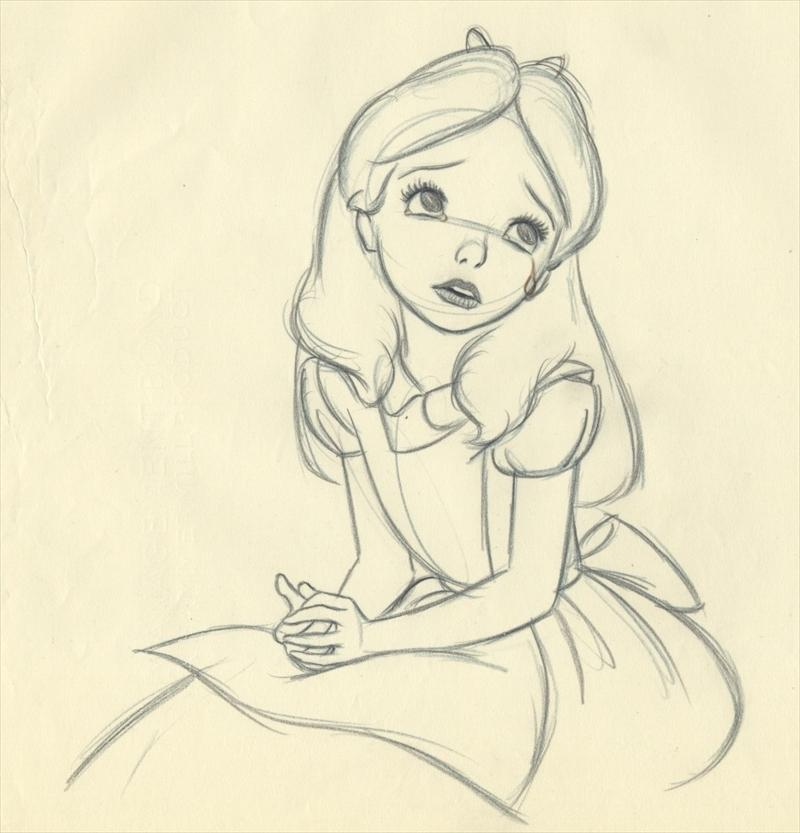 Disney alice in wonderland for Good sketches to draw