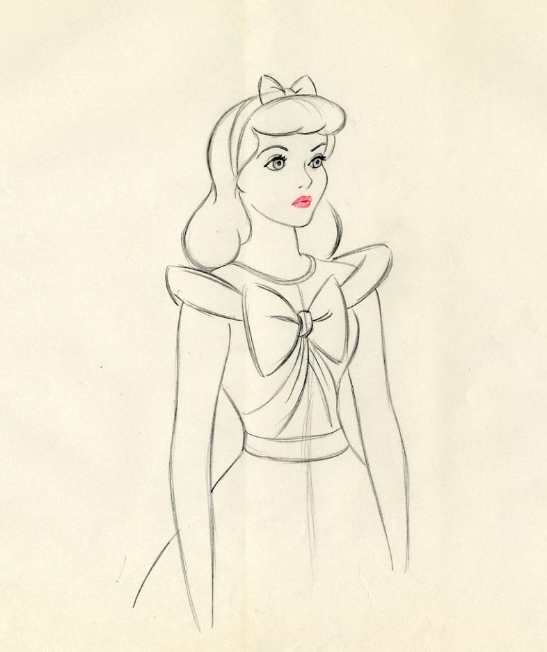 auction.howardlowery.com: Disney CINDERELLA Marc Davis ... Original Tinkerbell Drawings