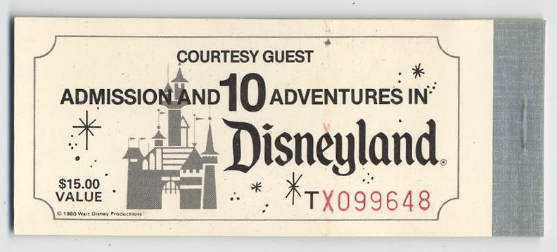 auction howardlowery com: DISNEYLAND Complimentary Ticket