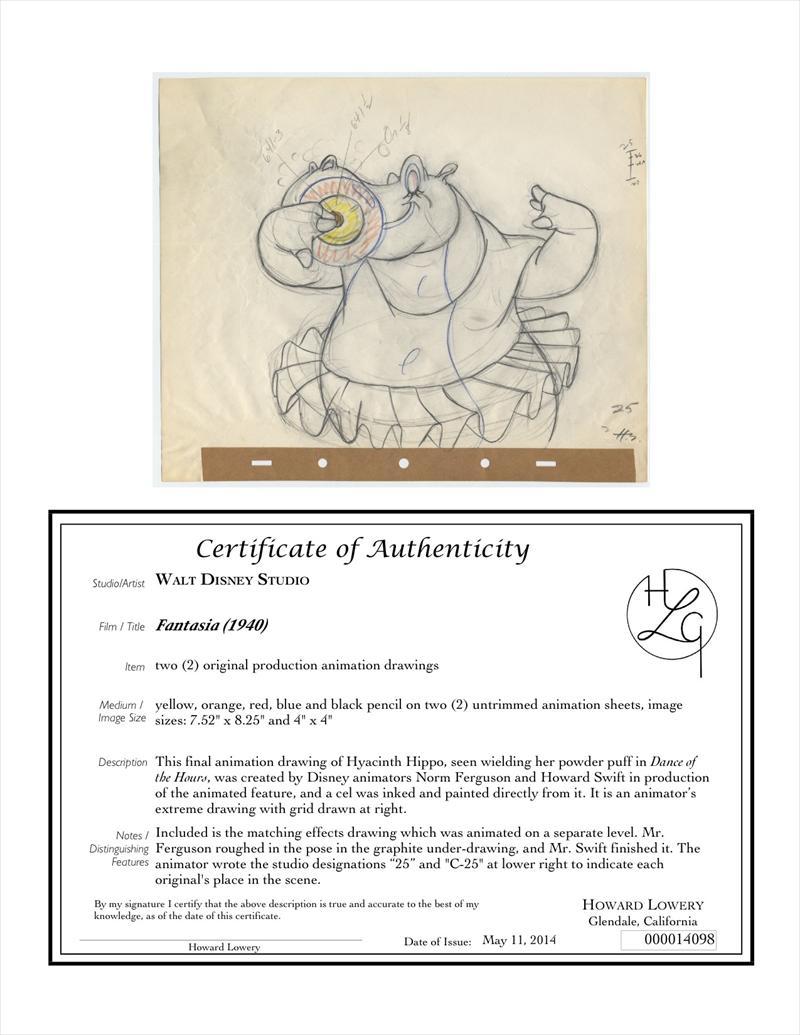 auction howardlowery com disney fantasia excellent animator u0027s