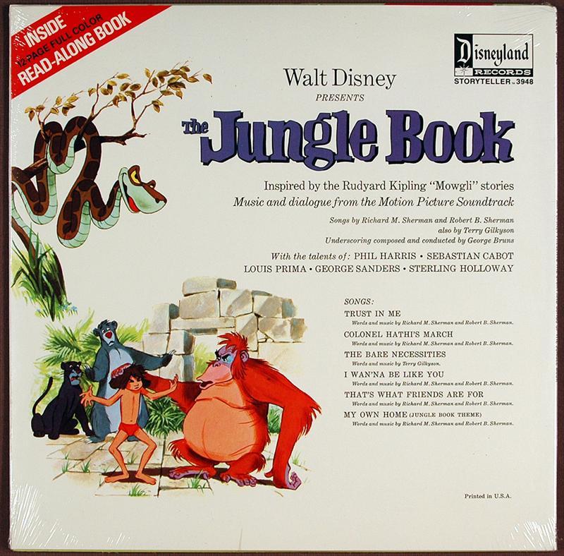Auction Howardlowery Com 2 Disney The Jungle Book Lp