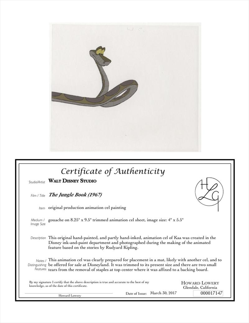 auction howardlowery com: Disney THE JUNGLE BOOK Animation