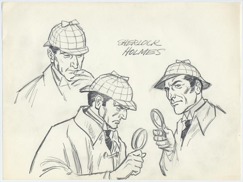 Auctionhowardlowery 3 Original SHERLOCK HOLMES Character Model