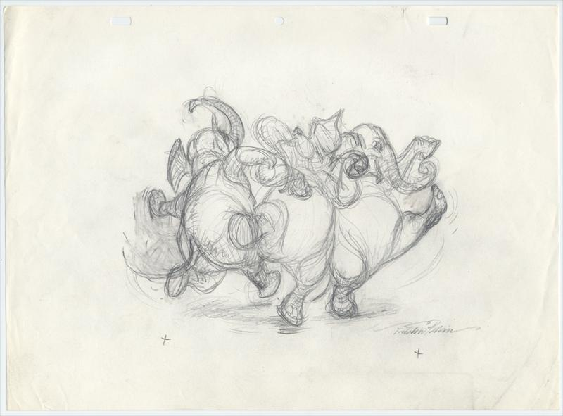 Auctionardlowery 5 Drawings Of Dancing Elephants By