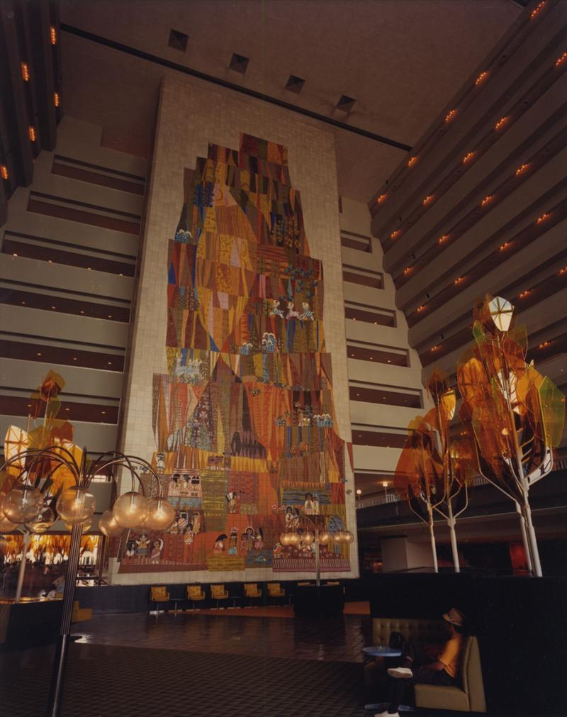 Walt disney world contemporary for Telephone mural 1970
