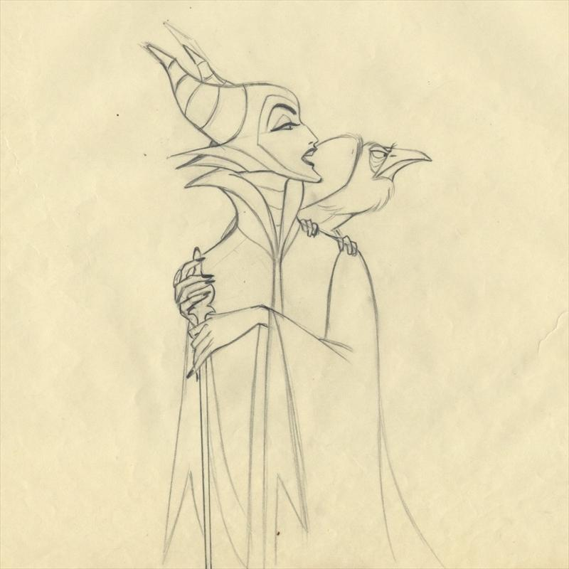 auction howardlowery com: Disney SLEEPING BEAUTY Marc Davis Scene
