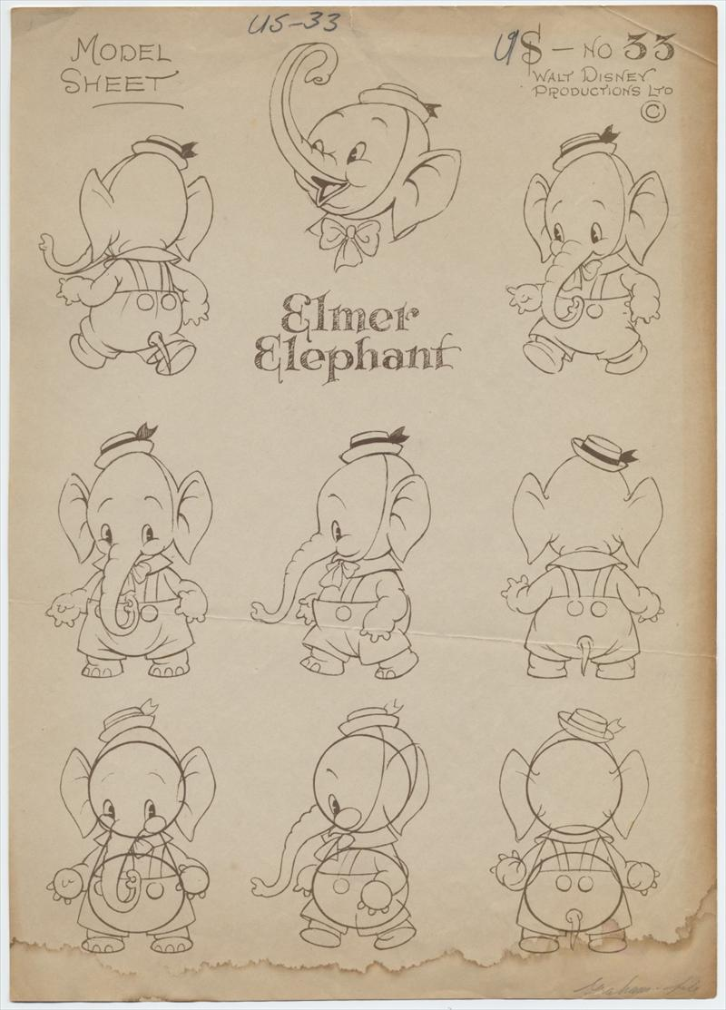 auction howardlowery com 2 disney elmer elephant animation model