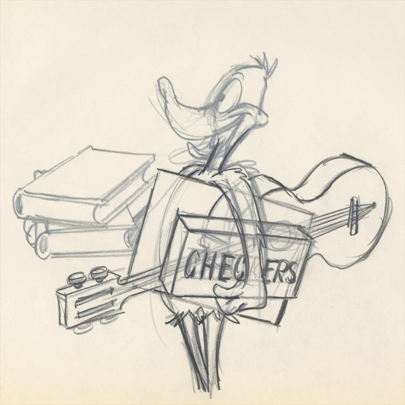 Auctionhowardlowery Warner Bros DAFFY DUCK Animation Layout