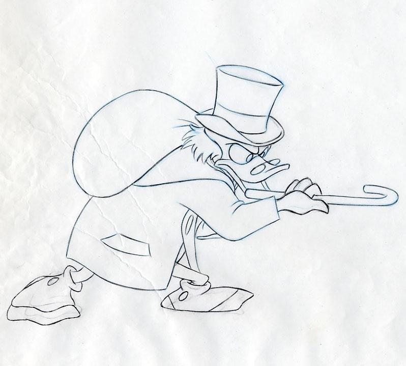 Christmas Carol Scrooge Drawing.Auction Howardlowery Com Disney Mickey S Christmas Carol