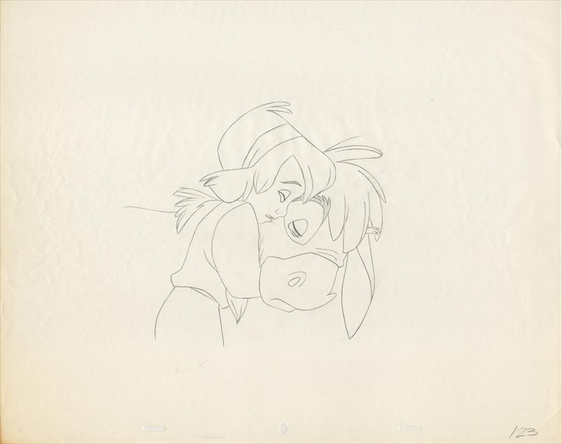 One Line Art Animation : Auction.howardlowery.com: disney the small one touching animation