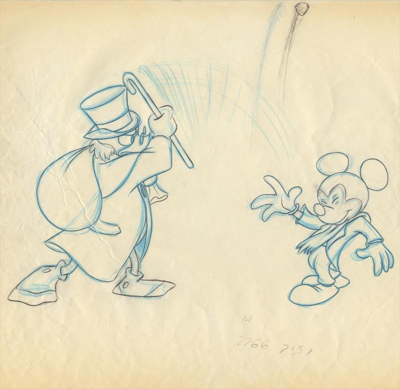 Auctionhowardlowerycom Disney Mickeys Christmas Carol Animation