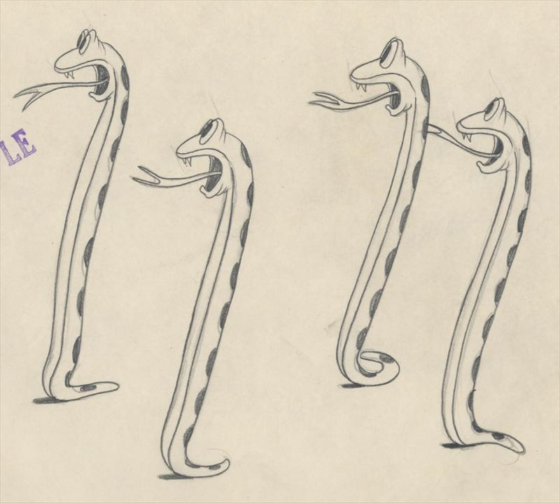 Auction Howardlowery Com 3 M G M Tex Avery Slap Happy Lion Animation Drawings In Sequence Snakes Frightened By The