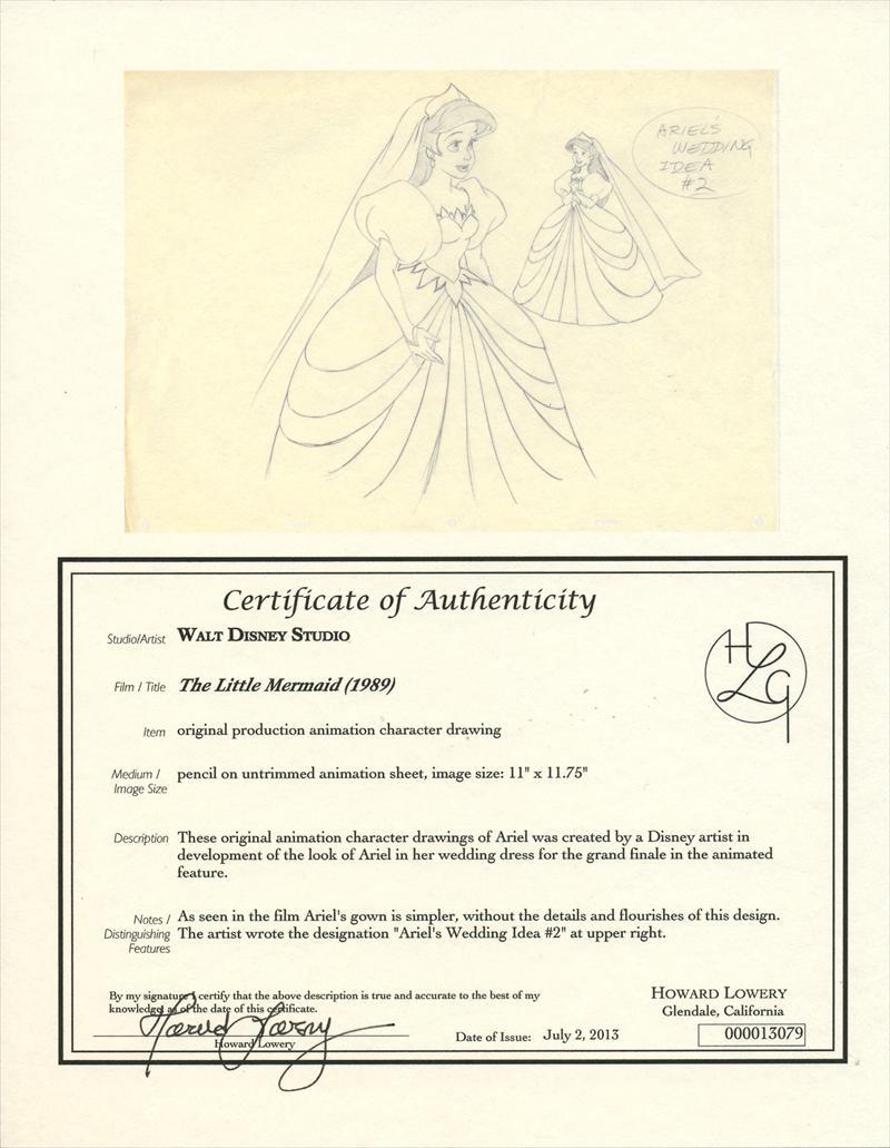 auction.howardlowery.com: 6 Disney THE LITTLE MERMAID